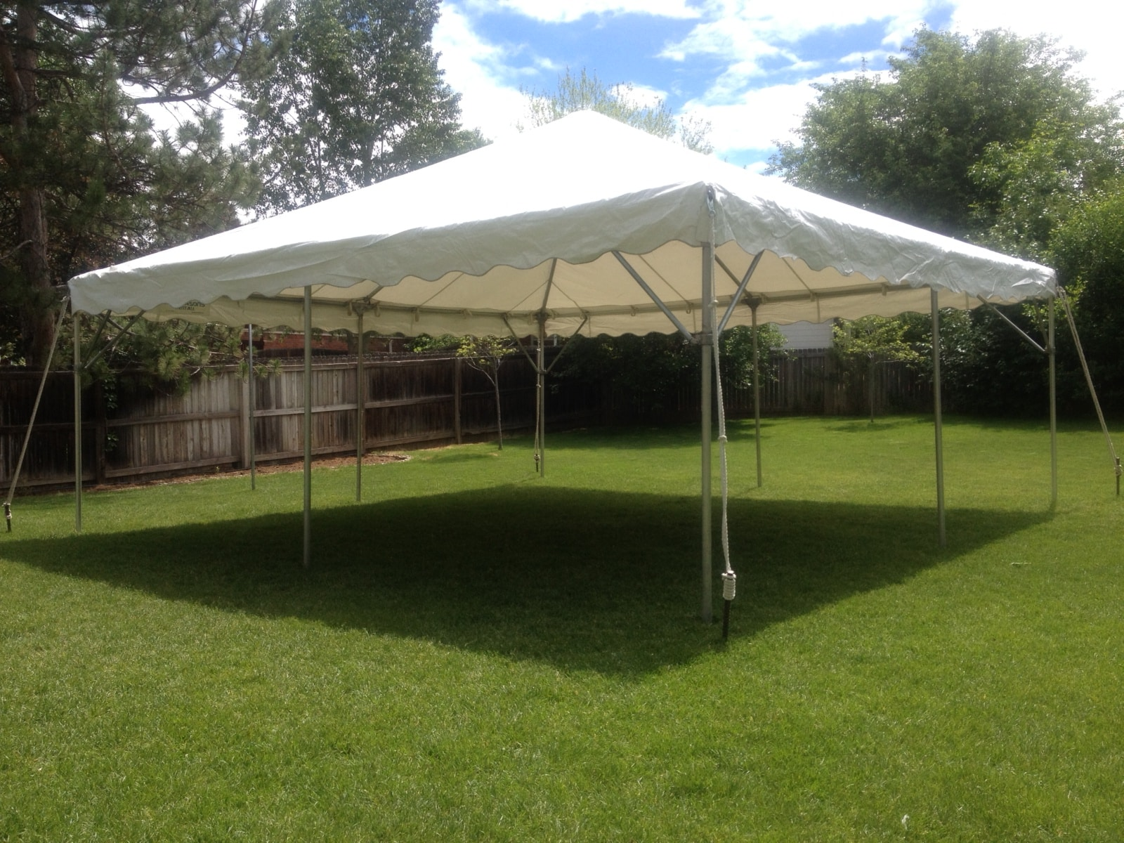 Canopy Frame Tent 20u2032 x 20u2032 White & Rent a 20u0027 x 20u0027 frame canopy for your next party at All Seasons ...