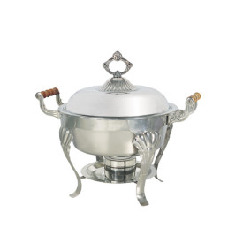 5 qt round stainless deep chafing dish