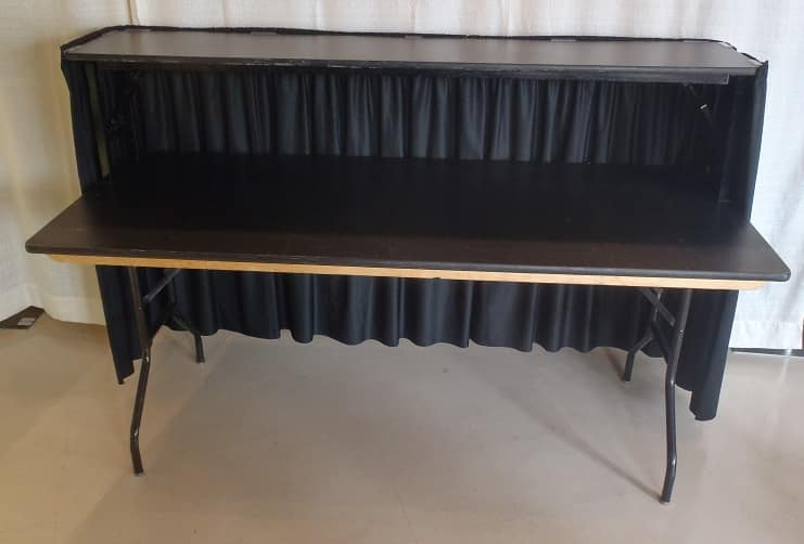 Rent A 6 39 Portable Bar With Skirting For Your Party At All