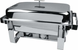 8 quart stainless oblong chafing dish