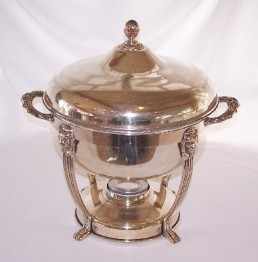 CHAFER, 8 QT SILVER ROUND