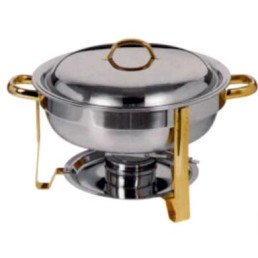 Chafer, Gold 4 Qt Round