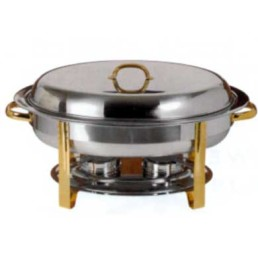 Chafer, Gold 6 Qt Oval