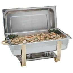 Chafer, Gold 8 Qt Oblong