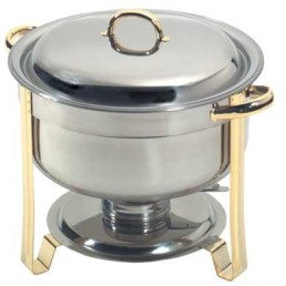 Chafer, Gold 8 Qt Round Deep