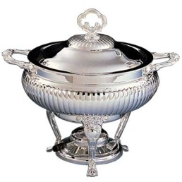 Chafer, Silver 3 Qt Round