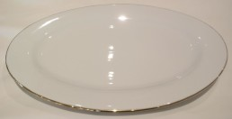 "china with gold rim 18"" platter"