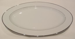 "china with silver rim 15"" platter"