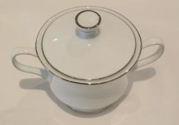 china & silver sugar bowl