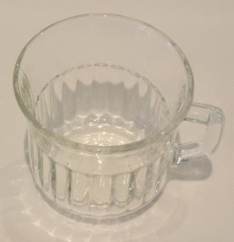 fluted glass coffee cup