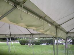 frame canopy rain gutter