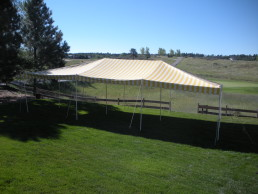 20' x 30' center pole canopy