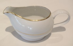 china with gold rim gravy boat