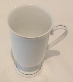 china & silver coffee mug