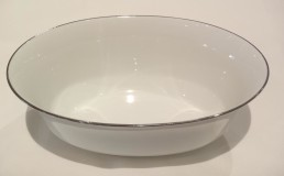 china with silver rim vegetable bowl-deep