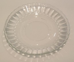 fluted glass saucer