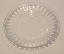 fluted glass saucer
