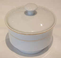 china with gold rim sugar bowl