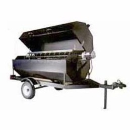Towable charcoal rotiss