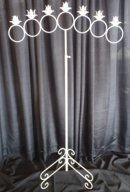 7 branch white candelabra