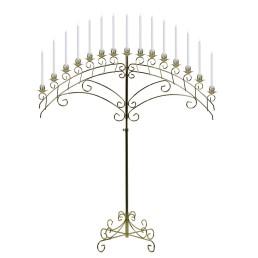 brass arch candelabra
