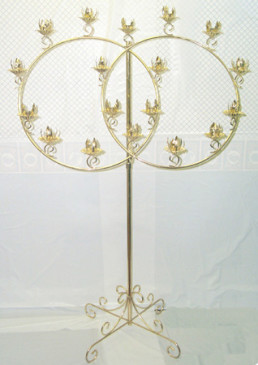 brass double ring candelabra2