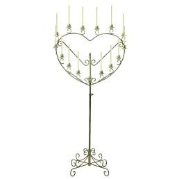 brass heart candelabra