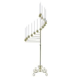 brass spiral candelabra