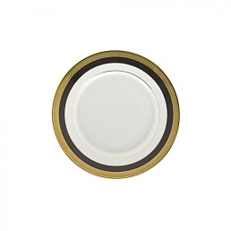 china black & gold bread & butter plate