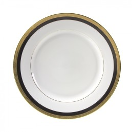 china black & gold dinner plate