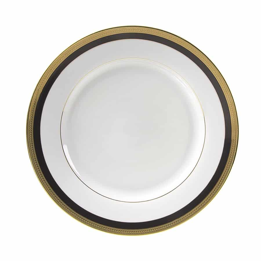 Plate Black/Gold Dinner  sc 1 st  All Seasons Rent All & Rent china dinner plates with black u0026 gold rim at All Seasons Rent All