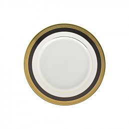 china black & gold salad plate