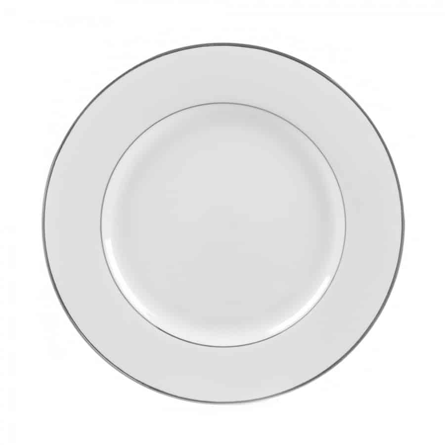 Plate White/Silver Dinner  sc 1 st  All Seasons Rent All & Rent some china dinner plates with silver rim at All Seasons Rent All