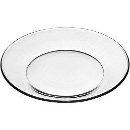 clear glass salad plate