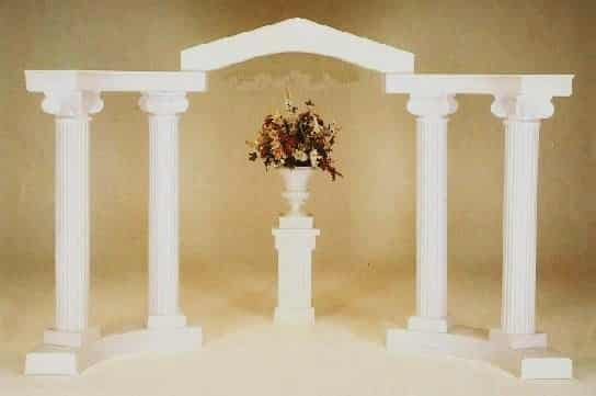 White Colonnade Wedding Arch All Seasons Rent All