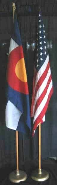 US and Colorado flags