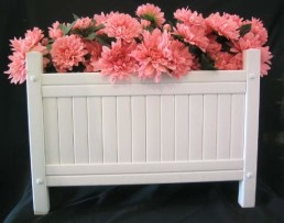 white poly flower box