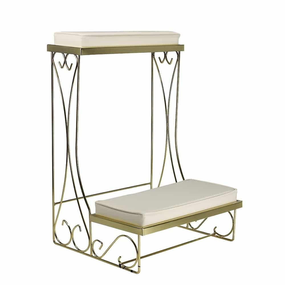 Brass Kneeling Benches - All Seasons Rent All