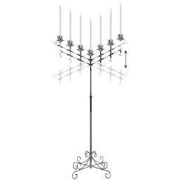 silver 7 branch adjustable candelabra
