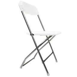 white & chrome folding chair