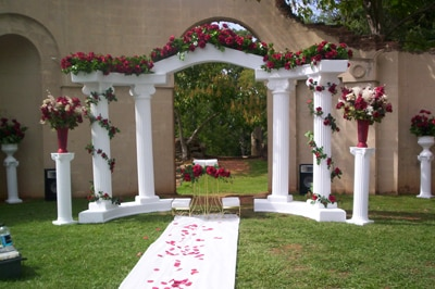 White colonnade wedding arch all seasons rent all wedding arch white colonnade wedding junglespirit Image collections