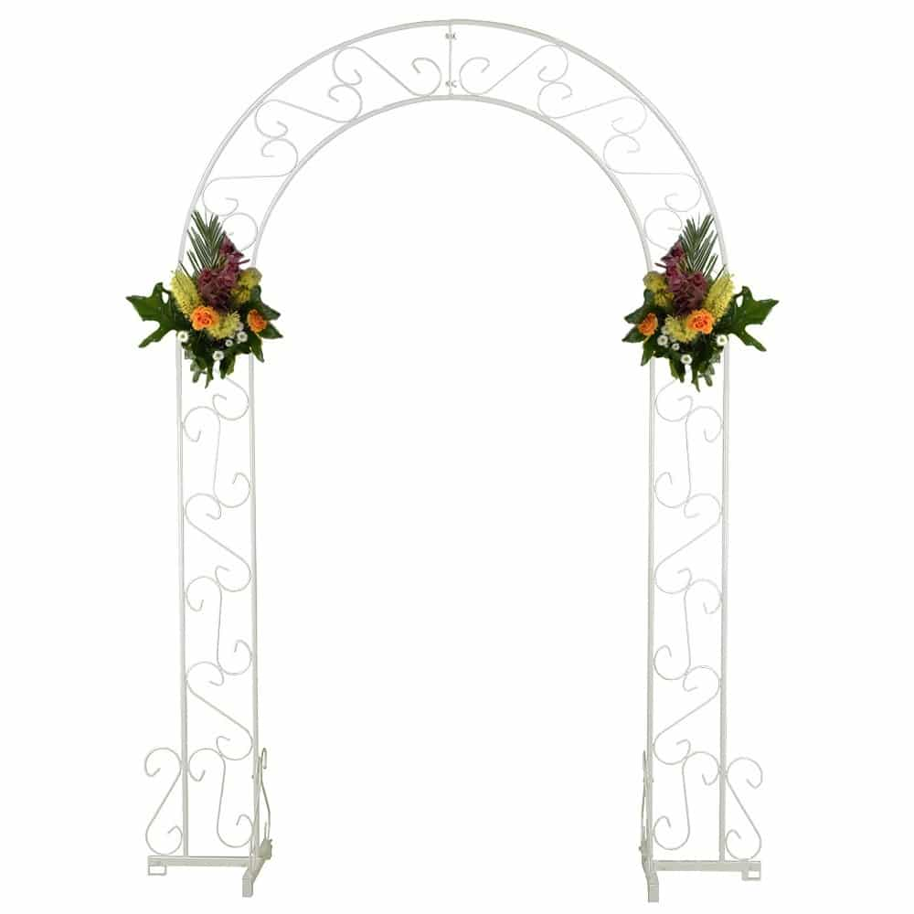 Rent a white metal arch for your wedding at All Seasons Rent All