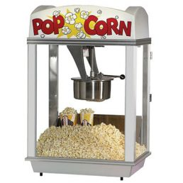 white top popcorn machine