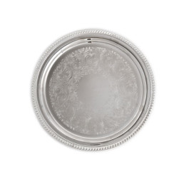 12 inch silver round tray