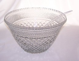 PUNCH BOWL, 3 Gallon CUT GLASS