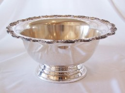 Punch Bowl, Silver 2.5 Gal Ornate