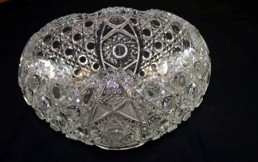 daisy button glass punch bowl