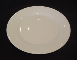 white china salad plate