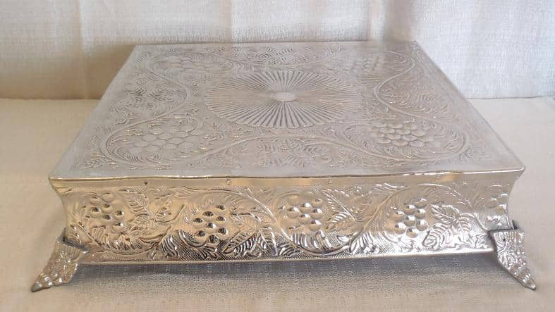 event wedding miscellaneous wedding tray silver cake stand 22 square