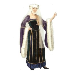 Medieval Lady Deluxe with Fur Trim
